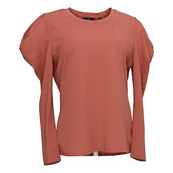 G by Giuliana Women's Top Puff Long Sleeve Knit Pink 677496