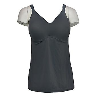 Rhonda Shear Plus Camisole Molded Cup Gray Chemise 630961