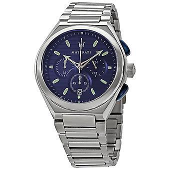 Maserati Triconic Cronógrafo Cuarzo Azul Dial Hombres's Reloj R8873639001