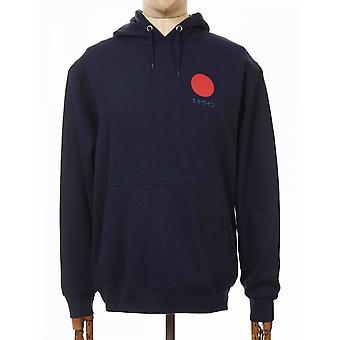 Edwin Jeans Japanese Sun Hooded Sweatshirt - Navy Blazer