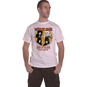 Motley Crue T Shirt Shout At The Devil new Official Amplified Mens Vintage White