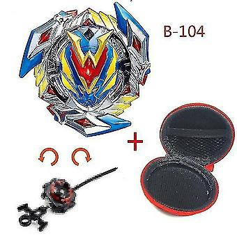 Spinning tops 5 beyblade burst sparking turbo b48 launcher  metal top gyro blade blade spinning fight toys b104