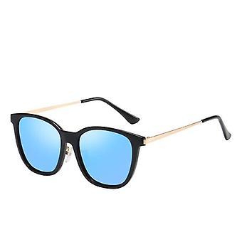 Män&s polariserade solglasögon Svart Ram Blå Lins