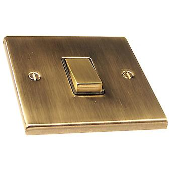 Causeway 1 Gang Intermediate Ingot Light Switch, Antique Brass