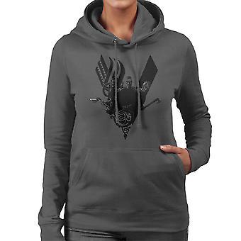 Plunder Vikings Ragnar Lothbrok Women's Hooded Sweatshirt