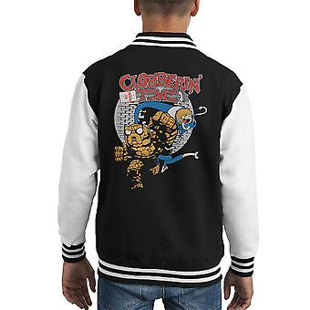 Clobbering Time Fantastic Adventure Kid's Varsity Jacket
