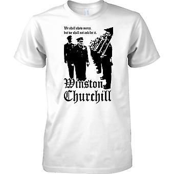 Winston Churchill - wir werden zeigen, Mercy - WW2-Zitat - Kinder T Shirt