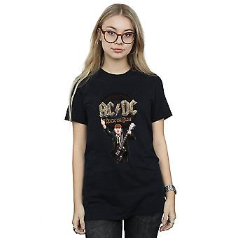 AC/DC Frauen Rock Or Bust Angus Young Freund Fit T-Shirt