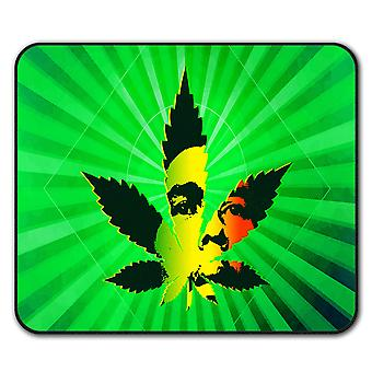 Bob Marley 42 Weed  Non-Slip Mouse Mat Pad 24cm x 20cm | Wellcoda