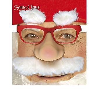 Santa gafas W/nariz Tash cejas