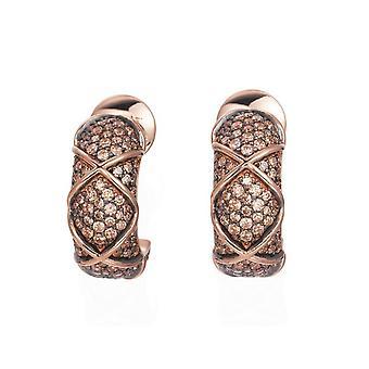 Joop kvinders hoop øreringe sølv Rosé cubic zirconia mosaikker JPER90306C000