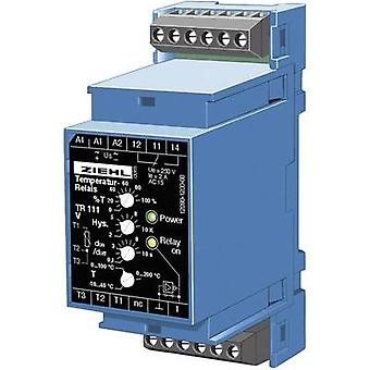 Ziehl TR 111 Temperature controller Pt100 -10 up to +200 °C 5 A relay (L x W x H) 58 x 35 x 90 mm