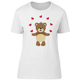 Bamse med hjerter Tee dame-billede af Shutterstock