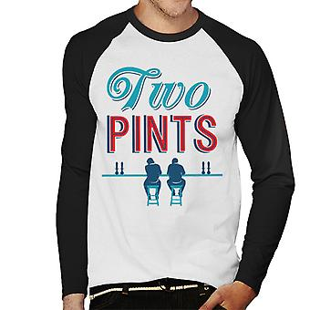 Must Read Book Covers Two Pints Men's Baseball Long Sleeved T-Shirt