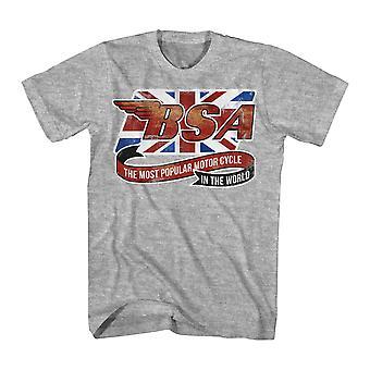BSA Flag Ribbon Men's Athletic Heather T-shirt