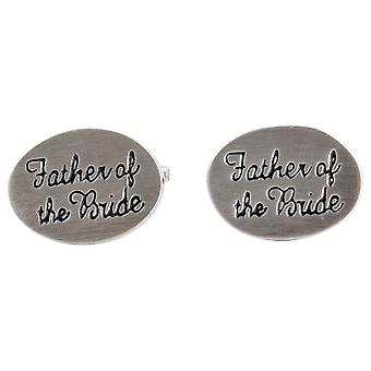 Zennor Father of the Bride Wedding Cufflinks - Silver