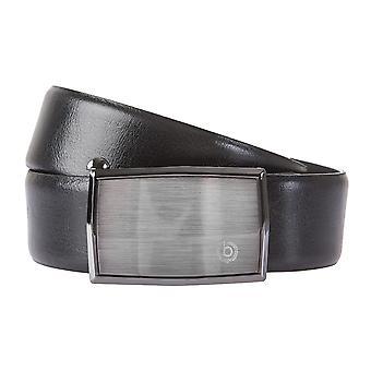 Bugatti bälten mäns bälten läderbälte kan kortas automatisk spänne svart 2126
