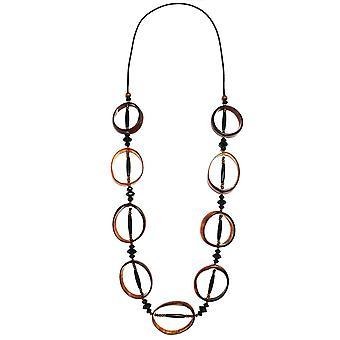 Zen Jewellery Circular Horn Effect Bead Necklace