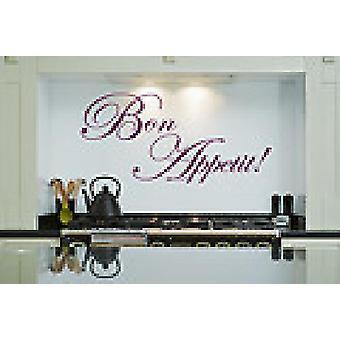 Bon Appetit Kitchen Dining Room Wall Art Sticker