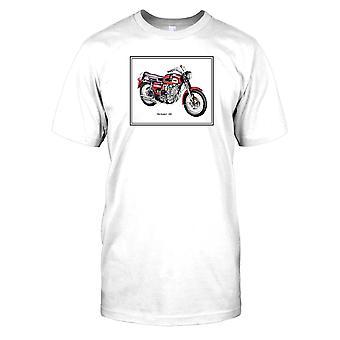 BSA Rocket 3 ghosted design-clássico britânico Bike Mens T-shirt