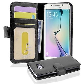 Cadorabo Case for Samsung Galaxy S6 EDGE Case Cover - Phone Case with Magnetic Closure and 3 Card Slots - Case Cover Case Case Case Case Case Book Folding Style