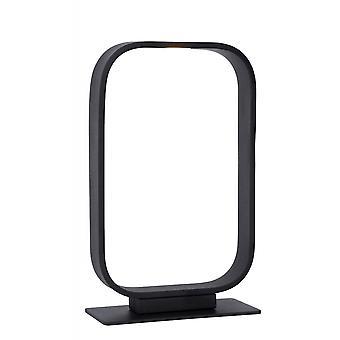 Lucide Mika rectángulo moderno lámpara de mesa negro acero