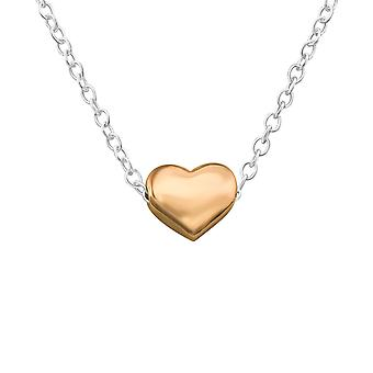 Heart - 925 Sterling Silver Plain Necklaces - W17454x