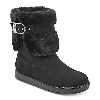 G by Guess Womens Aussie Faux Fur Closed Toe Ankle Cold Weather Boots