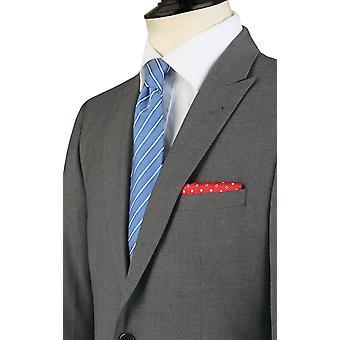 Doball Mens licht grijs pak jasje Fit Regular reizen/Performance Notch revers