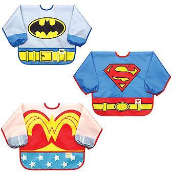 Bumkins DC Comics Ärmeln Bib / Lätzchen Baby / Kleinkind Bib / Kittel, wasserdicht, abwaschbar, färben und geruchshemmend, 6-24mths