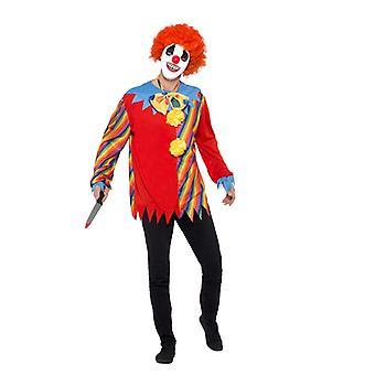 Gruseliger Clown Kostüm Set Unisex Erwachsene Karneval Halloween Creepy Clown Kit