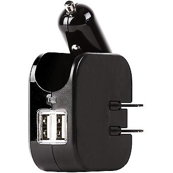 Gear Aid Portable Dual USB Wall and Car Charger