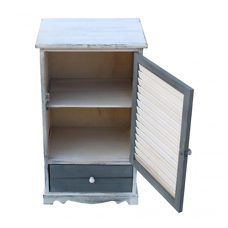 Meubles Rebecca Cabinet Bedside 1 Anta 1 Shabby Wood Drawer 73x42x32
