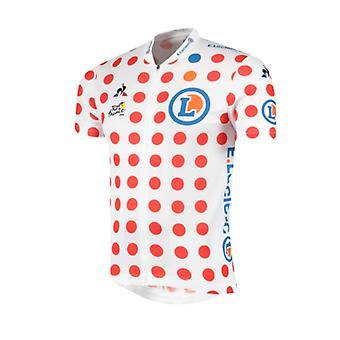 Tour de France Le Coq Sportif Men's Replica King of the Mountains Jersey  | Polka | 2019 | XXL