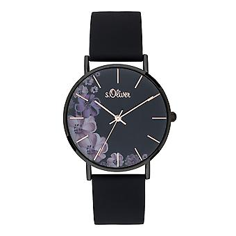 s.Oliver Damen Uhr Armbanduhr Silikon SO-3708-PQ