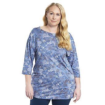 Rösch 1194536-11999 Naiset's Käyrä Sininen Pyjama Pusero
