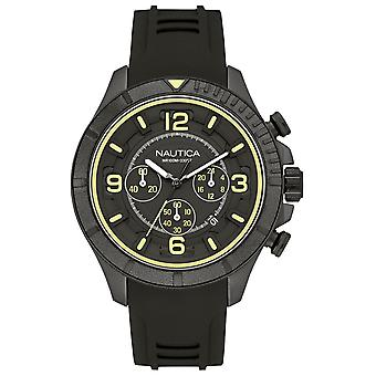 Nautica nst-450 Quartz Analog Man Watch with NAI19526G Rubber Bracelet