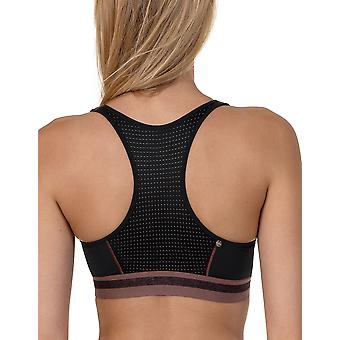 Lisca 60437-02 Energy Black Non-Wired Sports Bra
