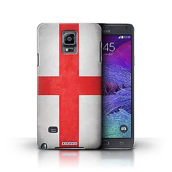 STUFF4 Case/Cover for Samsung Galaxy Note 4/England/English/Flags