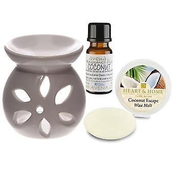 Coconut Oil Burner Gift Set in Box