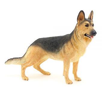 19Cm Standing German Shepherd Dog Figurine Home Decoration Gift Idea