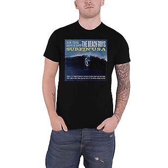 The Beach Boys T Shirt Surfin USA Cover Band Logo new Official Mens Black