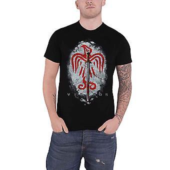 Vikings T Shirt Raven Sword Logo TV Show new Official Mens Black