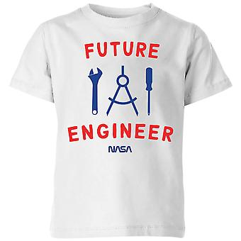 Cadets de l'espace de la NASA Future Engineer Kids-apos; T-Shirt - Blanc