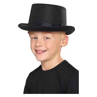 Kids Top Hat, Black Fancy Dress Accessory