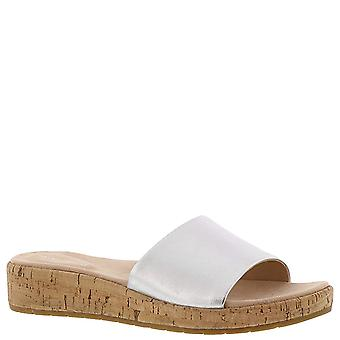 Easy Spirit Womens Muscari Leather Open Toe Casual Slide Sandals