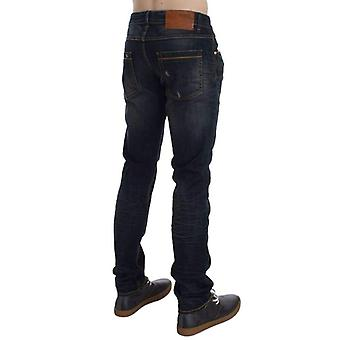 Blue Wash Cotton Stretch Slim Skinny Fit Jeans -- SIG3453701