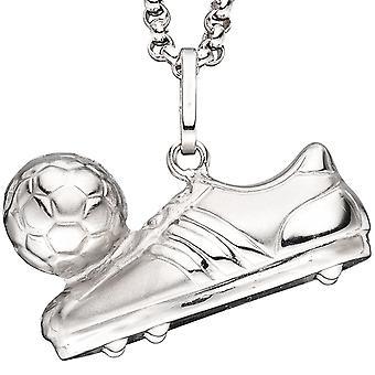 Finitura opaca dell'argento sterlina 925 di catena ciondolo calcio calcio avvio palla