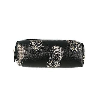 Jewelcity Womens/Ladies Contrast Pineapple Pencil Case/Makeup Bag