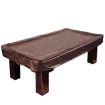 8-Foot Brown Leatherette Billiard Table Cover